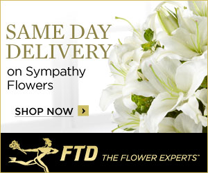 Save 25% on Sympathy and Funeral flowers