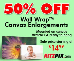 Get 50% Off Canvas Prints
