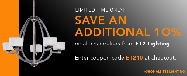 10% on all chandeliers by ET2