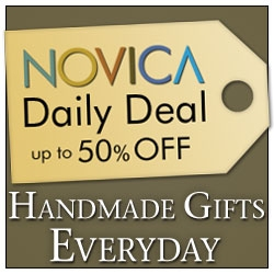 Save up to 50% Off with NOVICA Daily Deals