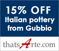 15% discount on Italian handmade pottery from Gubbio