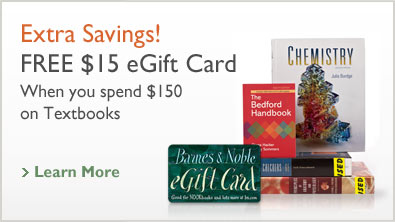 Get a free $15 eGift card when you spend $150 on Textbooks