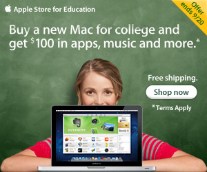 Buy a new Mac for college and get $100 in apps, music and more