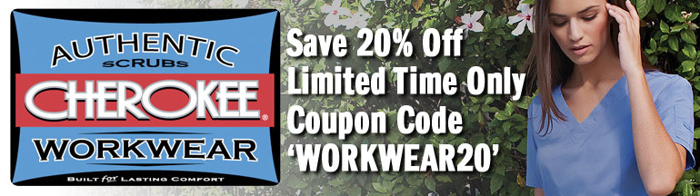 20% Off on authentic Cherokee Workwear Scrubs