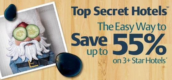 Save up to 55% with Top Secret Hotels