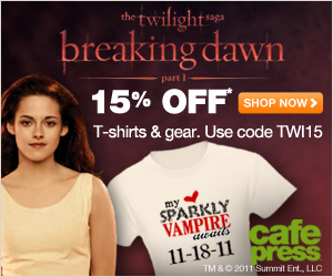 15% Off Twilight Breaking Dawn Products