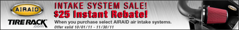 Save $25 on Select AIRAID Intake Systems