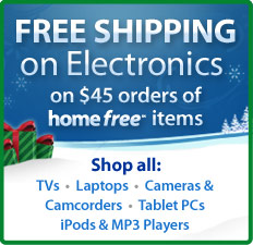 Free Shipping on $45 Orders of Home Free Electronics
