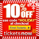 10% off discount on tickets