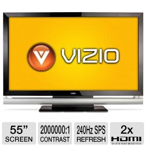 $500 Off Vizio VF551XVT 55 Inch 240Hz SPS Smart Dim True LED TV