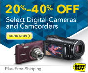 40% Off Select Digital Cameras and Camcorders