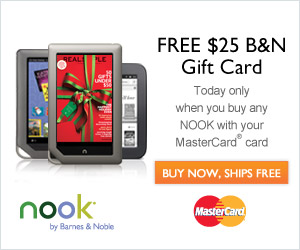 Free $25 B&N Gift Card when you buy any NOOK with your MasterCard