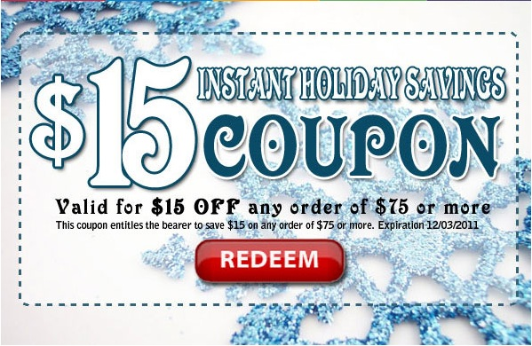 $15 Off All Orders Over $75