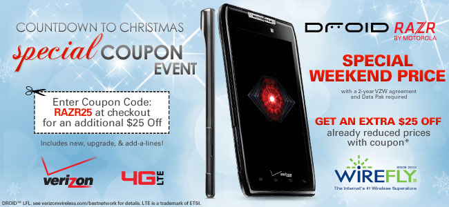 $25 off DROID RAZR