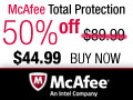 50% Off McAfee Total Protection 2012