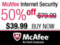 50% OFF McAfee Internet Security 2012