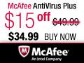 $15 Off McAfee AntiVirus Plus 2012
