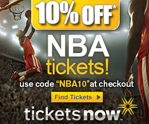 10% off NBA Ticket Orders