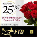 Save up to 25% on Valentine's Day flowers and plants