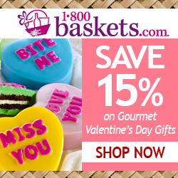 Save 15% on Gourmet Valentine's Day Gifts