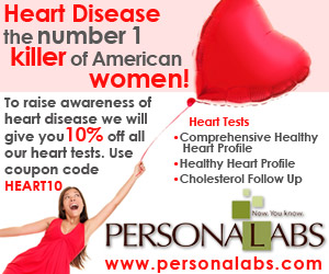 10% off all Heart Tests