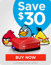 Save $30 on Roku 2 XS Angry Birds Edition