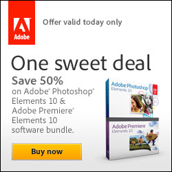 Save 50% off the full version of Adobe Photoshop Elements & Premiere Elements Bundle