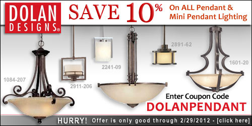 Save 10% on ALL Dolan Designs Pendants and Mini Pendants