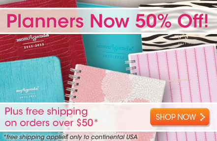 50% Off Planners + FREE Shipping over $50