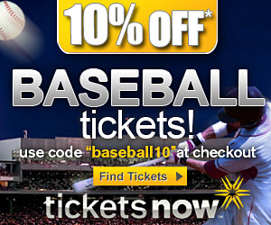 10% Off Baseball Tickets