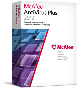 50% OFF! McAfee AntiVirus Plus 2012