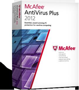 50% OFF! McAfee AntiVirus Plus 2012