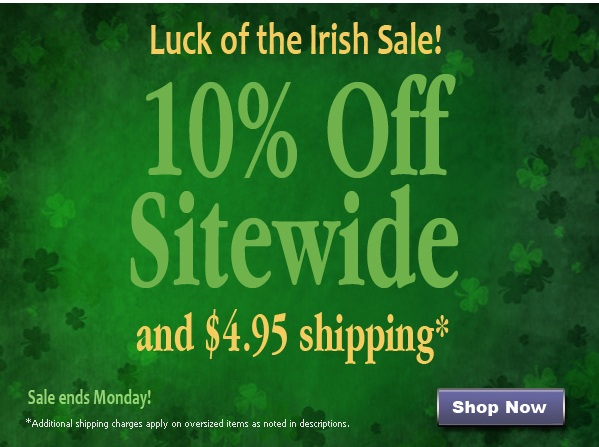 Save 10% Off Sitewide + $4.95 Shipping