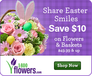 $10 Off Easter flowers & gifts