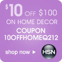 Save $10 off your next $100 or more home decor purchase