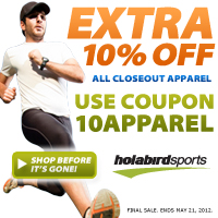 10% Off All Closeout Apparel