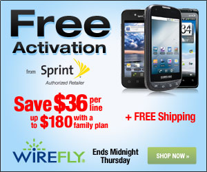 Save $36 per line up to $180 with a family plan with Sprint FREE Activation
