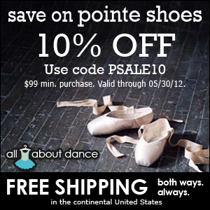 10% off all Pointe Shoe orders $99 or more