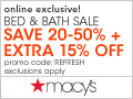 Extra 15% Off at the Bed & Bath Sale