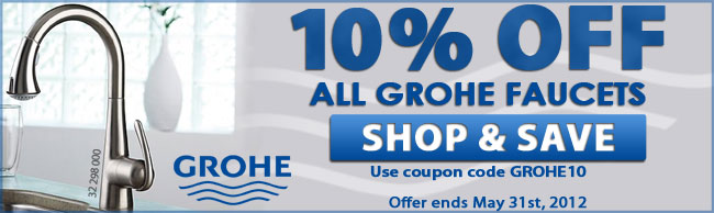 Get 10% Off All GROHE faucets