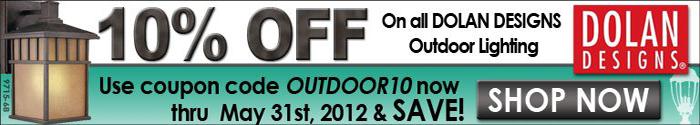 Save 10% on Dolan Outdoor Lighting