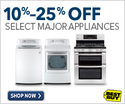 10%-25% Off Select Major Appliances