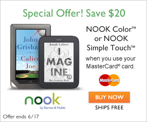 Save $20 on NOOK for Dads & Grads when you use your MasterCard® card