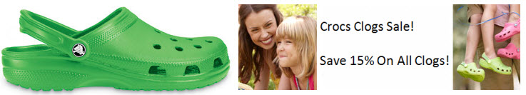 Save 15% with the Crocs Clogs Sale