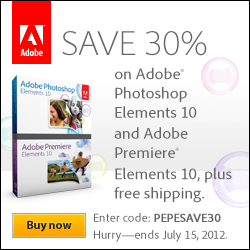 Save 30% on Adobe Photoshop Elements 10 and Adobe Premiere Elements 10