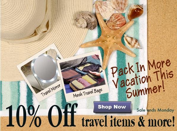 10% Off Travel Gear and 10% Off Sitewide savings