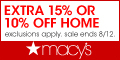 Extra 15% or 10% off Home at The Biggest Home Sale of the Season