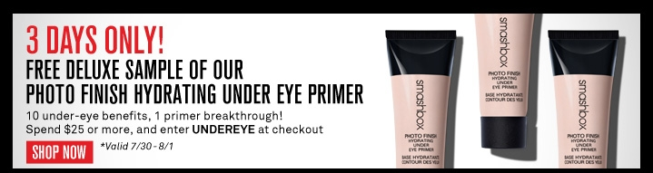 Free deluxe sample of our Photo Finish Hydrating Under Eye Prime