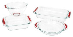 $10 price drop on the Pyrex Accents Collection 4-Piece Bakeware Set