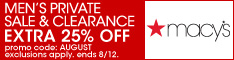 Extra 25% Off at the Men's Private Sale & Clearance